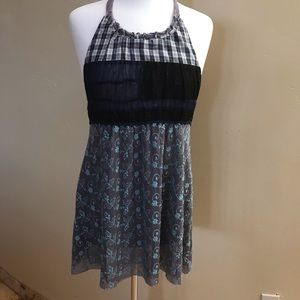 Free People Patchwork Gypsy Boho Top Large